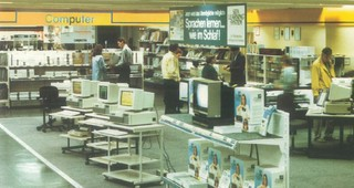 Metro Germany with Computer in 1980s