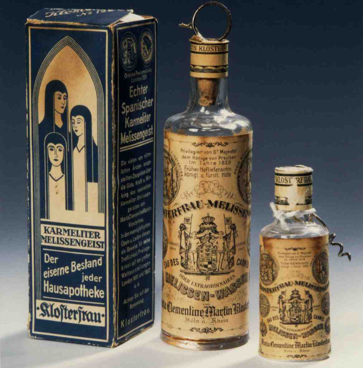 A historic bottle of Klosterfrau Melissengeist