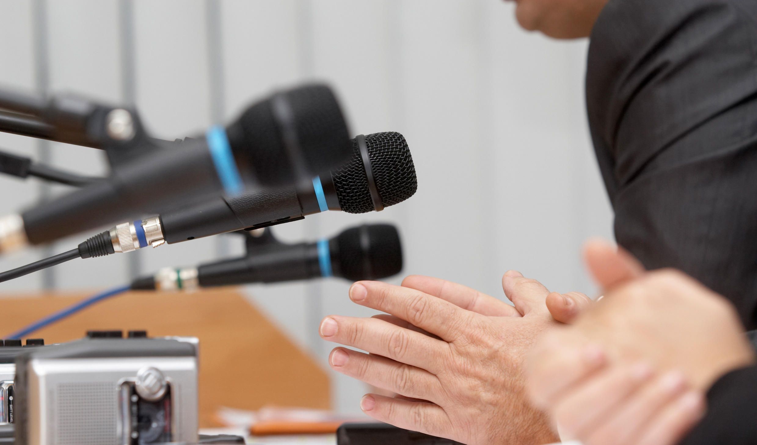 Microphones in a conference room