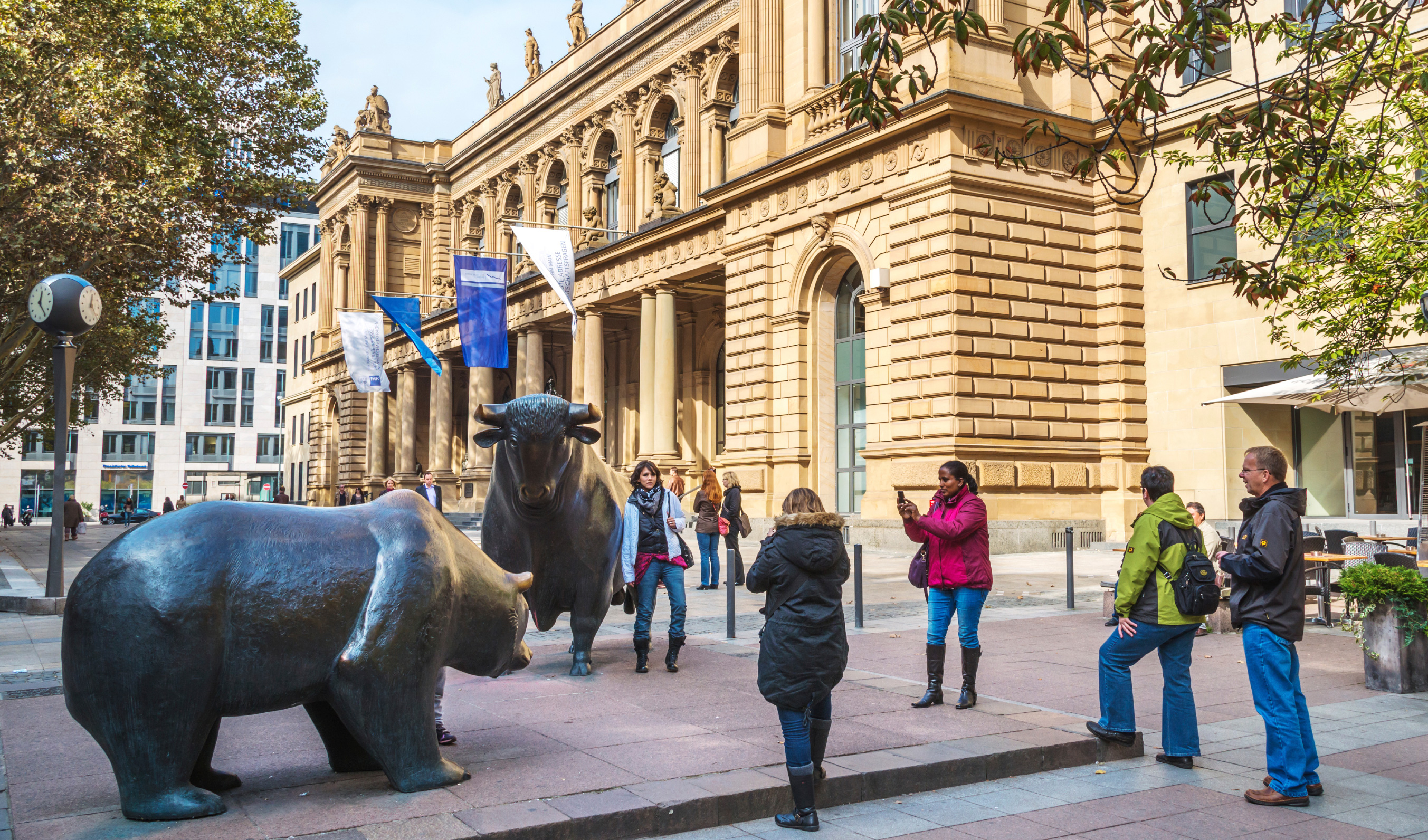 The bull and bear at the Frankfurt Stock Exchange